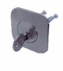 Секретна ключалка LOB WT04 за допълнителна брава, никел