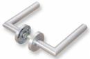 Комплект дръжки с кръгла розетка LINCE MRL3 - INOX