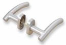 Комплект дръжки с овална розетка LINCE MROTC3 - INOX